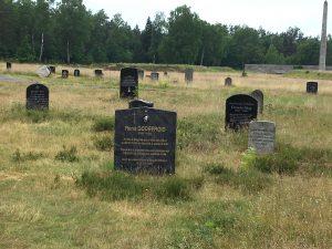 Tombstones in Bergen Belsen